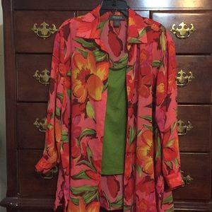 Designs Lane Bryant Tunic Shirt Set 14/16
